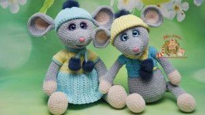 Мышки амигуруми крючком