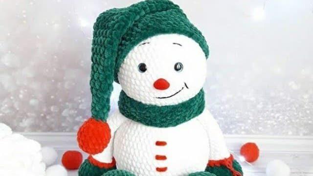 Мастер-класс снеговик амигуруми