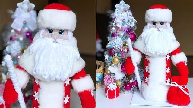 Вязаный Дед Мороз крючком